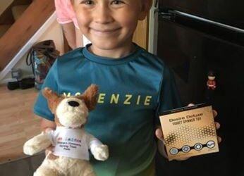 Shielding young patients thanked with Darcy Dogs funded by national appeal