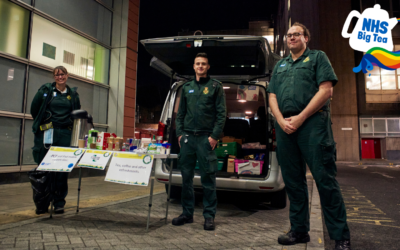 Ambulance crews raise a cuppa to NHS Charities Together funding as the UK prepares for the NHS Big Tea